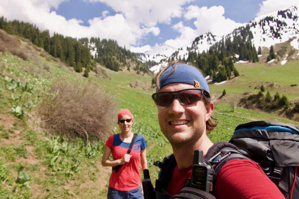 Auf dem Weg zum Peak Furmanov