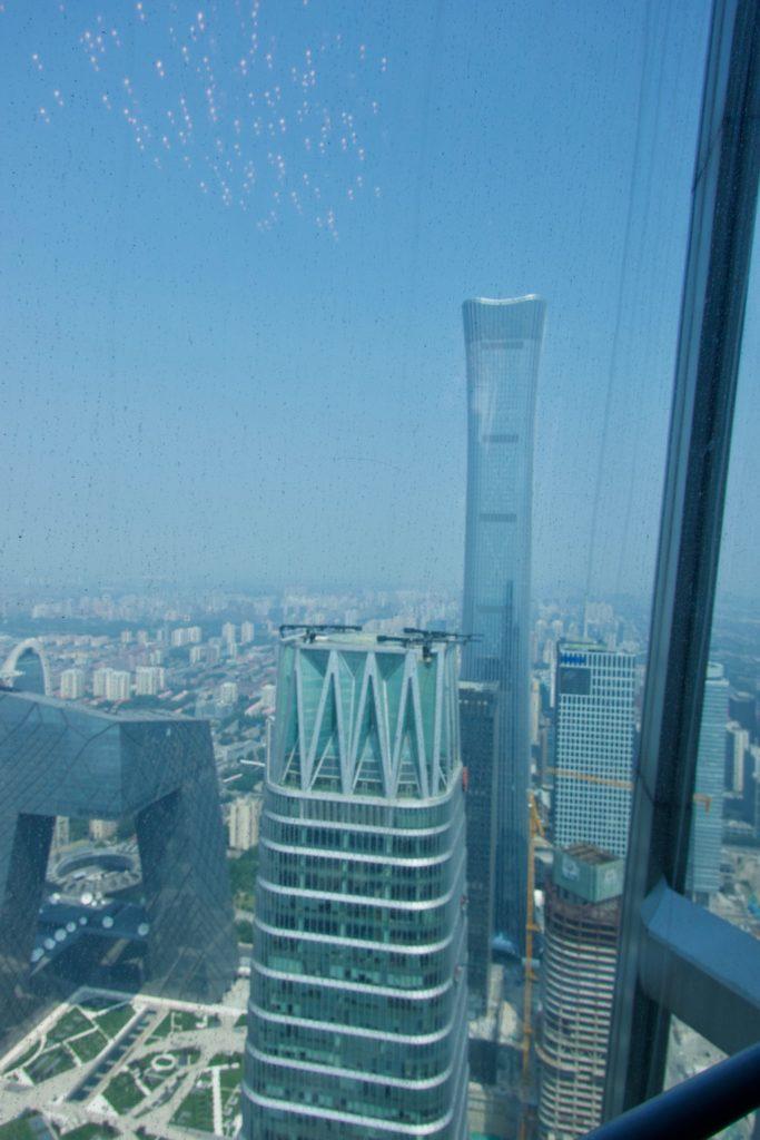 Aussicht vom World Trade Center auf CCTV & China-Tower