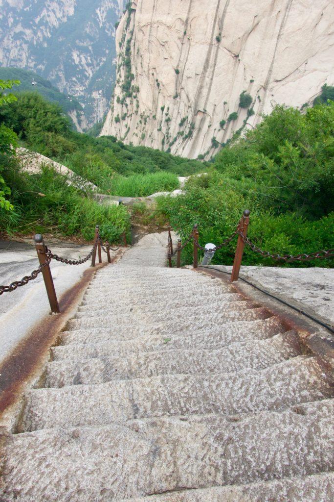Steilste Treppen am Mount Huashan