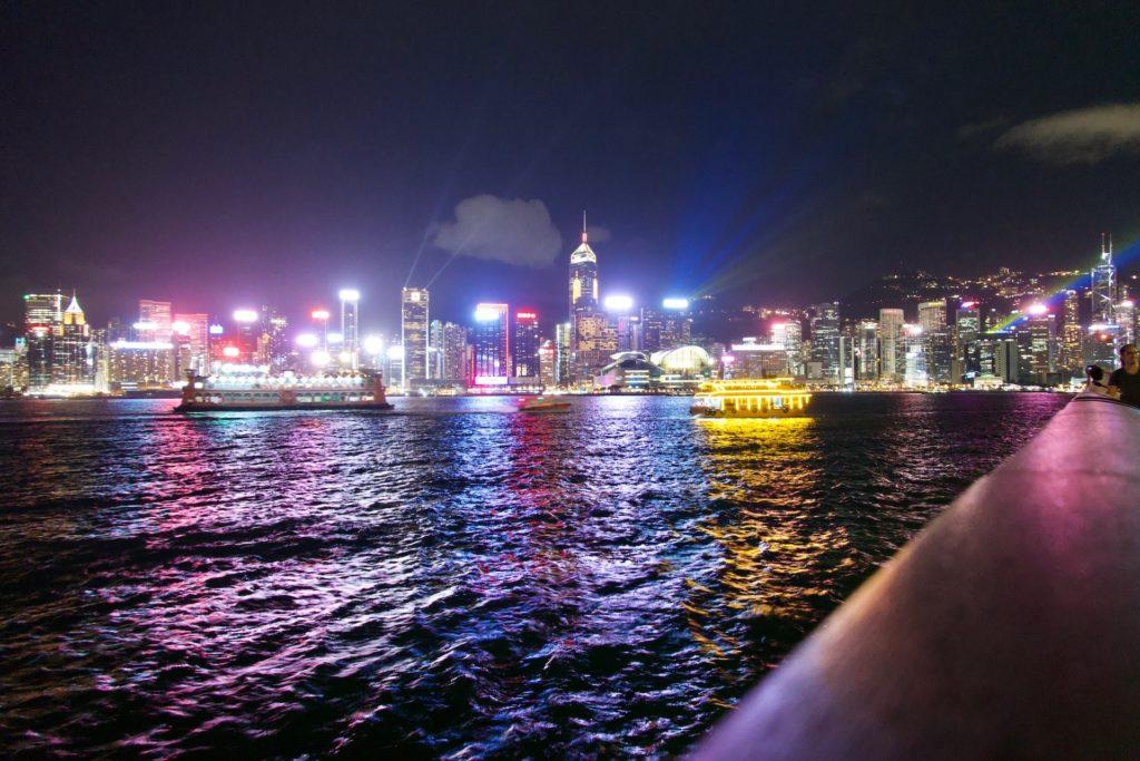Hongkong - Sicht von Kowloon nach HK-Island