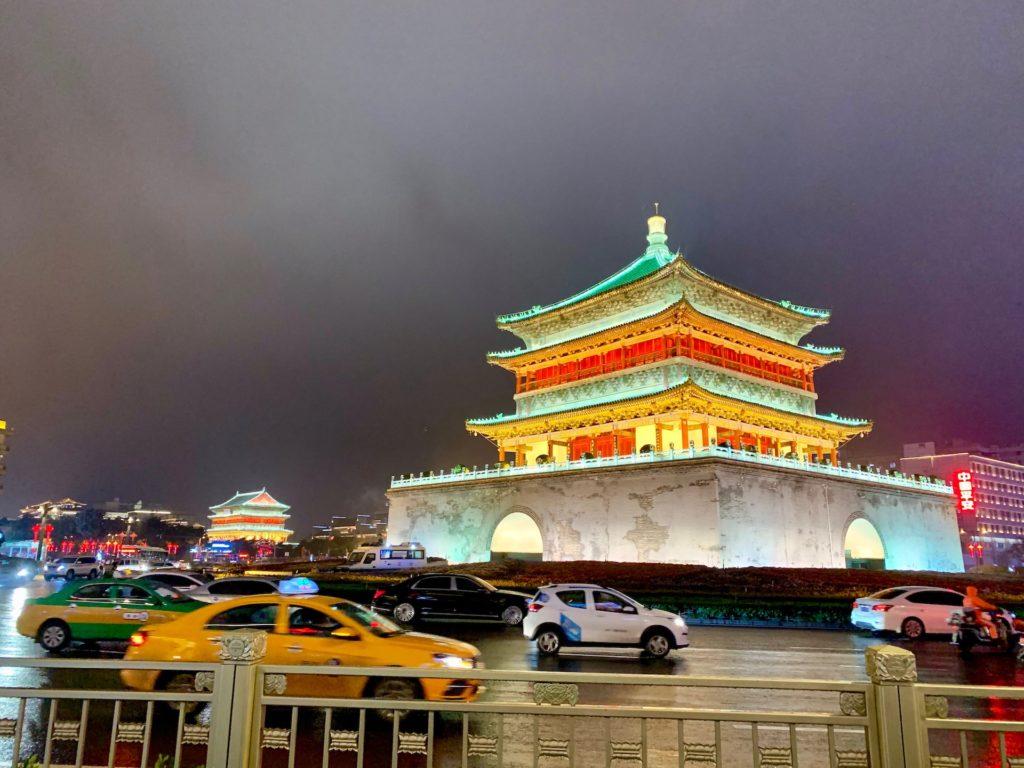 Xi'an Belltower by Night