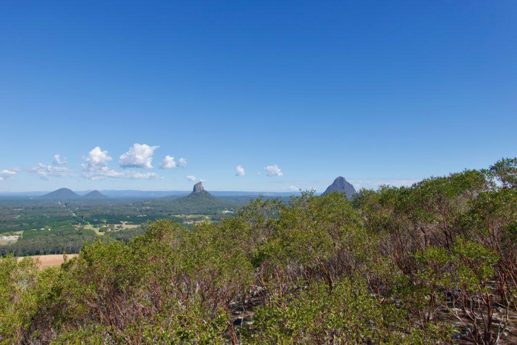 Aussicht vom Mount Coochin (Glasshouse Mountains)