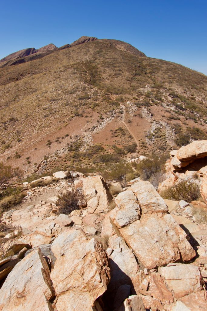 Aufstieg Mount Sonder