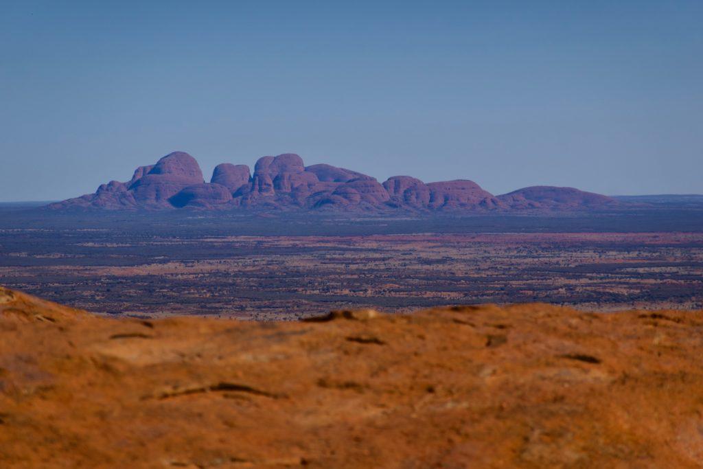 The Olgas vom Uluru aus fotografiert