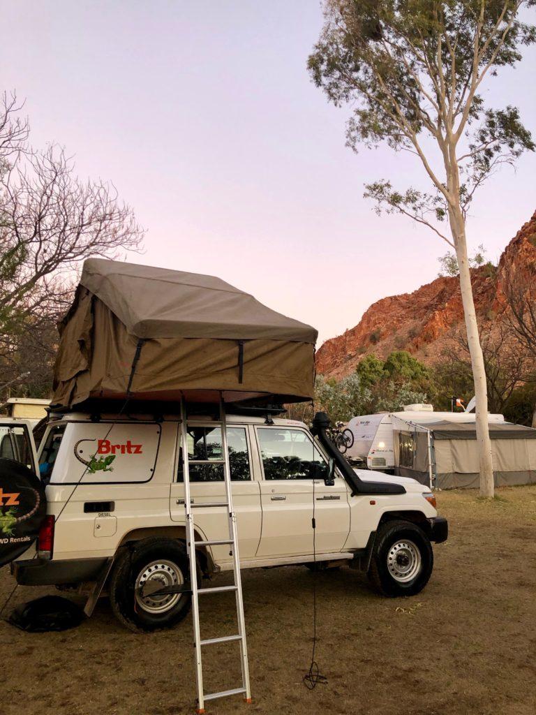 """Camper auf dem Campingplatz """"Temple Bar"""""""
