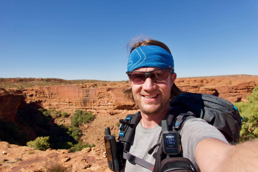 Am Kings Canyon - weit vom letzten Mobilfunkmasten entfernt - und trotzdem erreichbar…