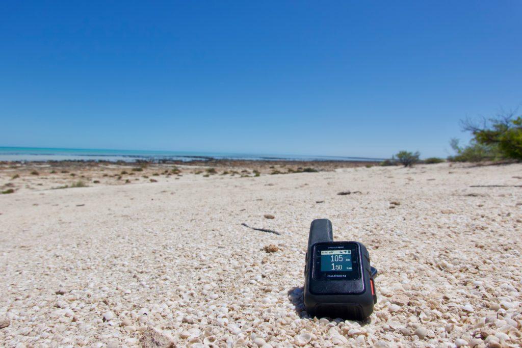 Garmin Inreach bei den Stromatolithen