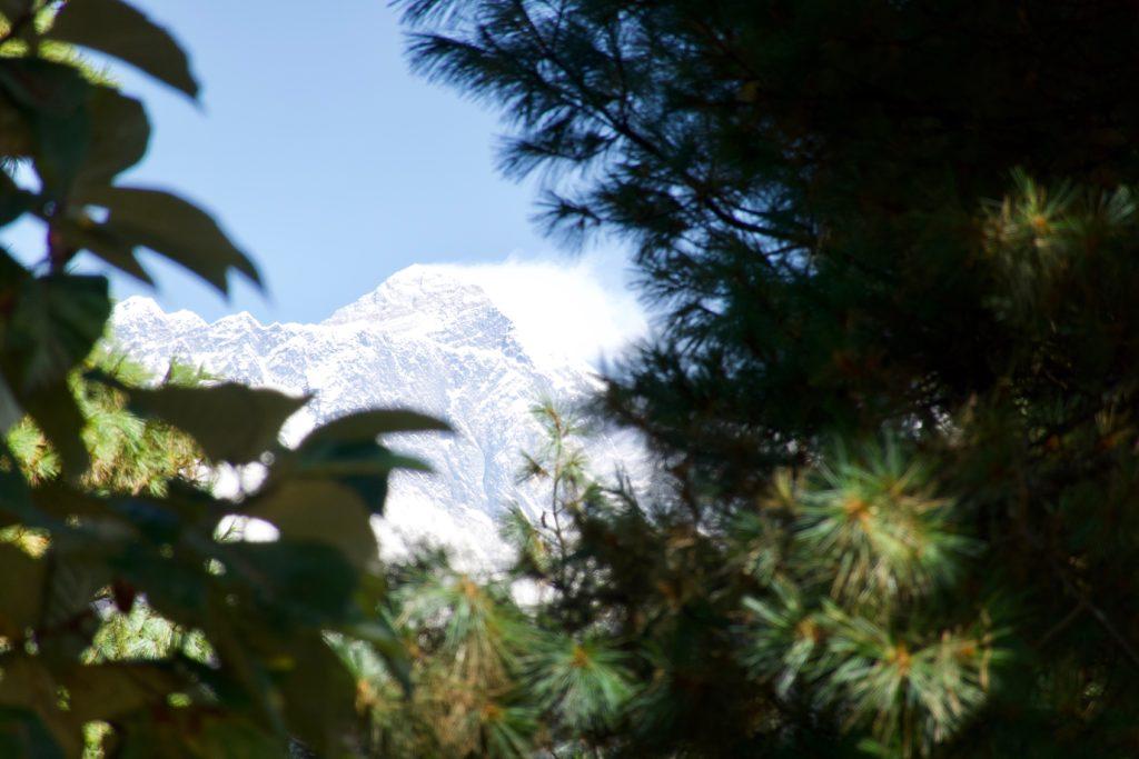 erste Sicht auf den Everest
