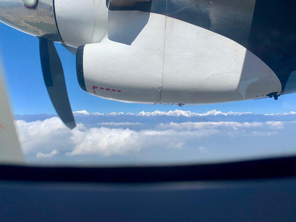 Himalaya aus dem Flugzeug