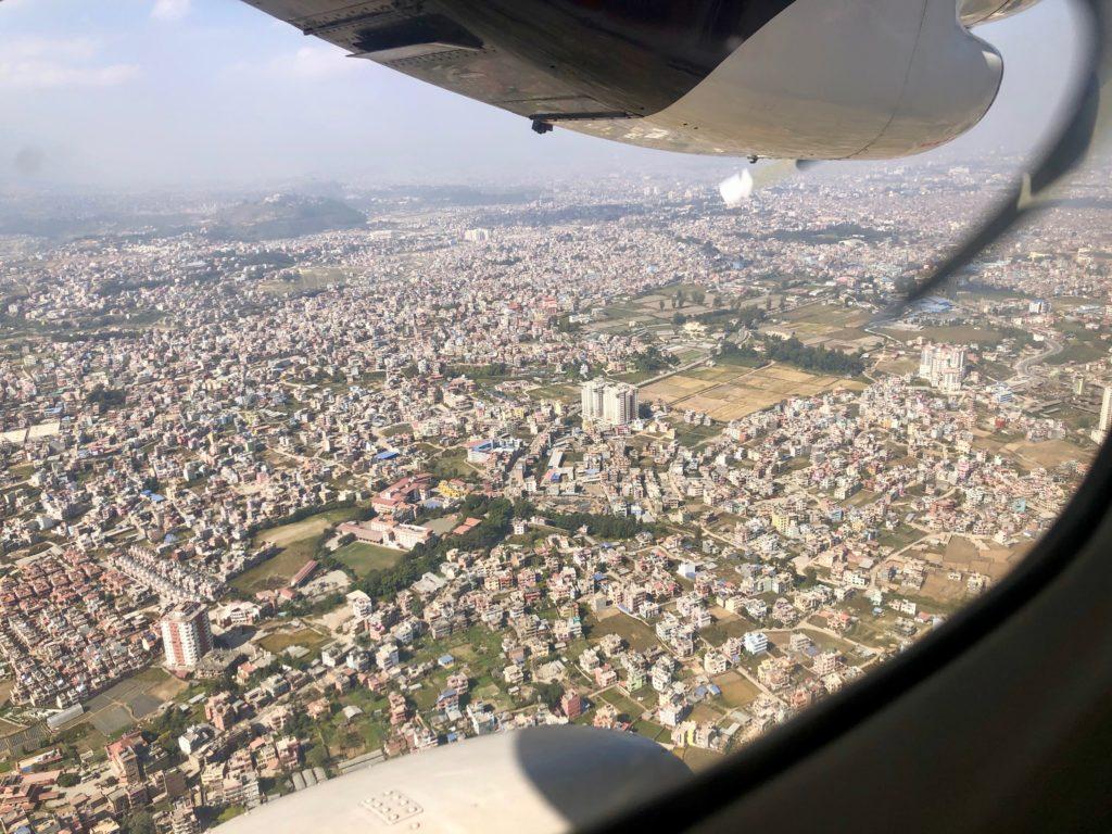 Kathmandu kurz vor der Landung