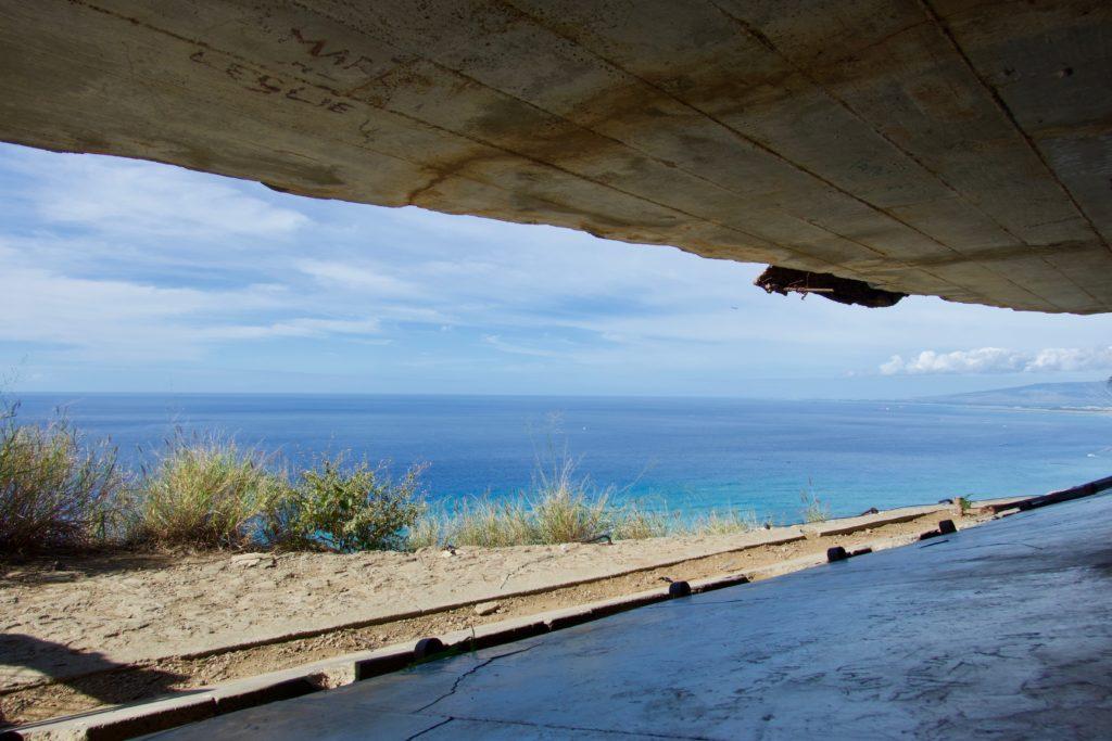 Aussicht aus dem Diamond Head Beobachtungsposten